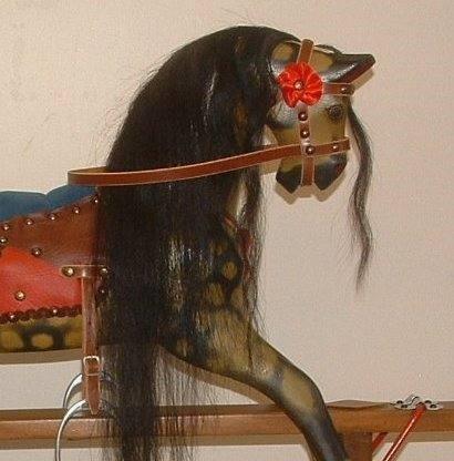 black horse hair